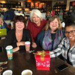 Soroptimist International of Benicia members with our 2018 Live Your Dream AwArd winner Shantay. We presented her with cash and a box full of gift cards! Merry Christmas to Shantay and her 3 kids! So inspirational to hear her success story! — with Penny Stell and Debbie Gee.